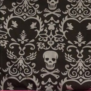 Shower Curtain • Skull Damask Black Gray